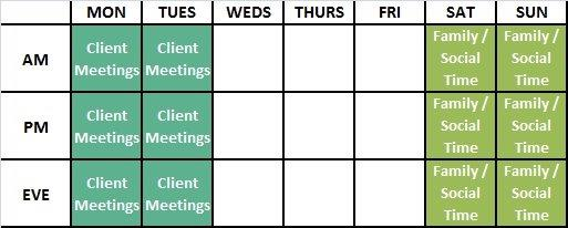 ifamatch.com time management building a weekly schedule